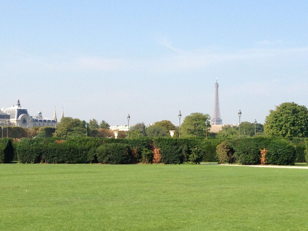 One of my favorite spots on earth....the Tuilieries.  You can stand here and see (almost) everything.  The Louvre, Musee d'Orsay & Eiffel Tower.  Does it get any better?