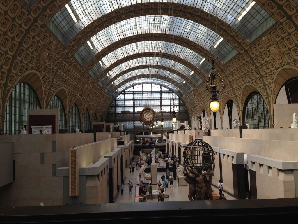 The Musee d'Orsay used to be an old train station