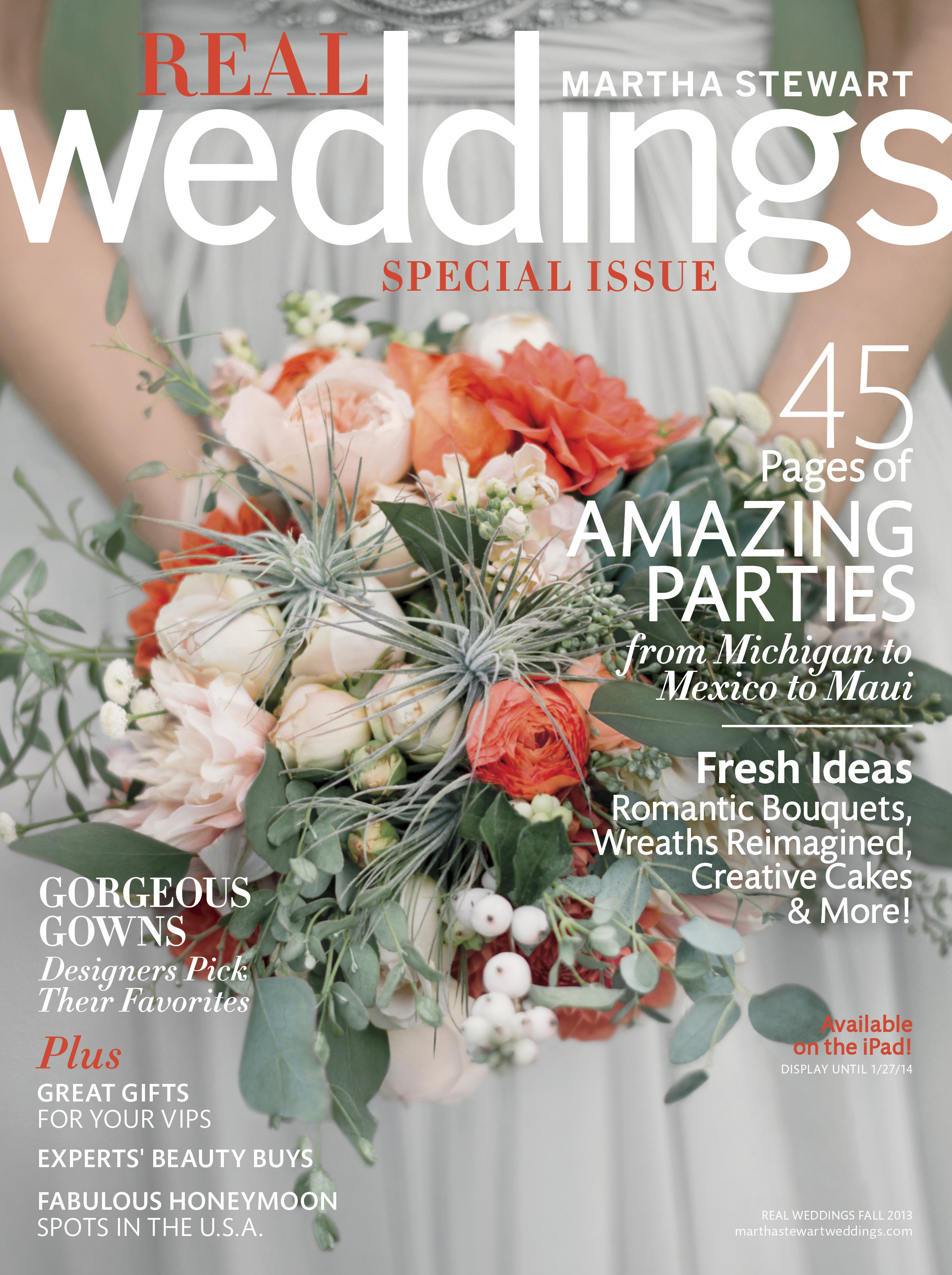 Our Wedding In Martha Weddings Magazine Almost Exactly A Year And One Month From Date We Can Finally Share All The Magic Of