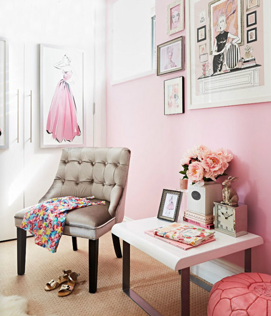 21 Feminine Home Office Designs Decorating Ideas: Haute Homes: Inside The Home Of Fashion Illustrator Megan